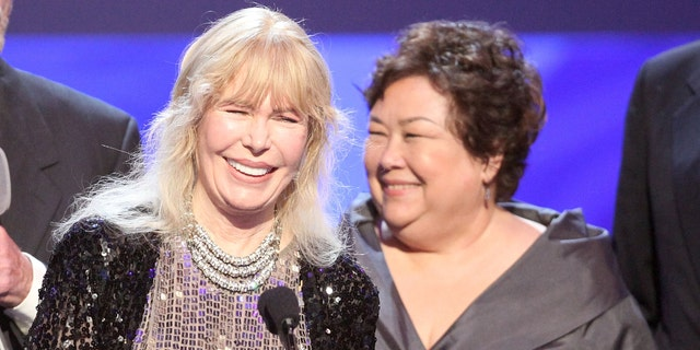 """Actresses Loretta Swit and Kellye Nakahara of """"M*A*S*H"""" at the TV Land Awards in 2009."""