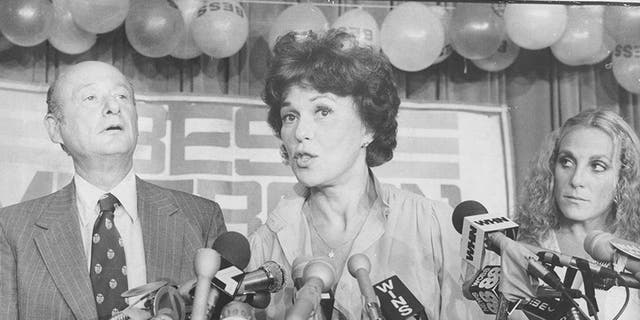 Left to right: Ed Koch, Bess Myerson & Barra Grant, circa 1980.