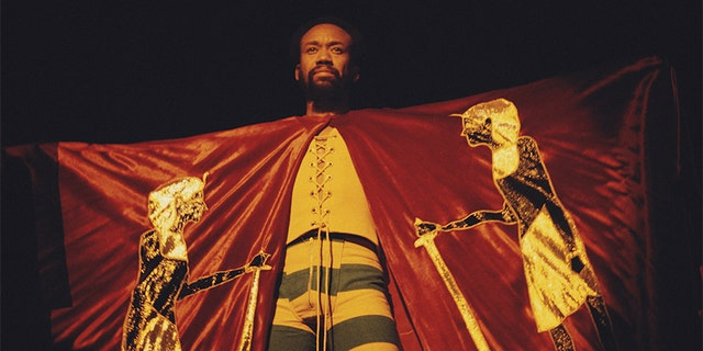 American singer-songwriter and musician Maurice White of American multi-genre band Earth, Wind & Fire performing, circa 1978.