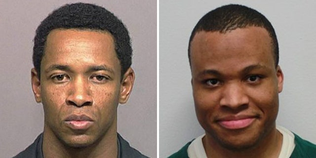Left: John Allen Muhammad also known as John Allen Williams in the 1995 booking mug released by the Pierce County, Wash. Sheriff's Department. Right: Photo of Lee Boyd Malvo provided by the Virginia Department of Corrections.