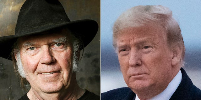 "Neil Young is no fan of Donald Trump. In an open letter published on his website on Tuesday, the aging rocker told the president directly: ""You are a disgrace to my country."" (AP)"