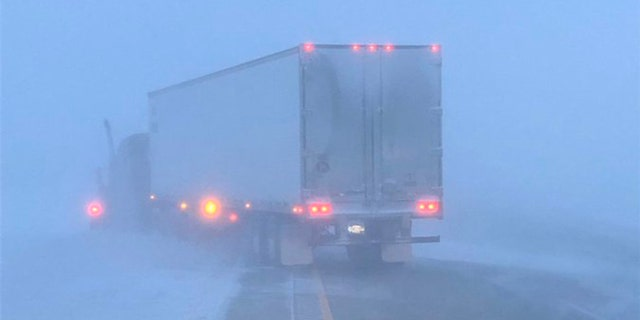 Whiteout conditions and accidents were reported Wednesday in North Dakota as a storm system brought blizzard conditions to parts of the state.