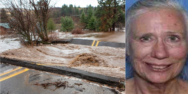 The body of Janet Tobkin Conley (right) was found Sunday by searchers and neighbors after she was swept away by raging waters as major flooding was reported in northeastern Oregon.