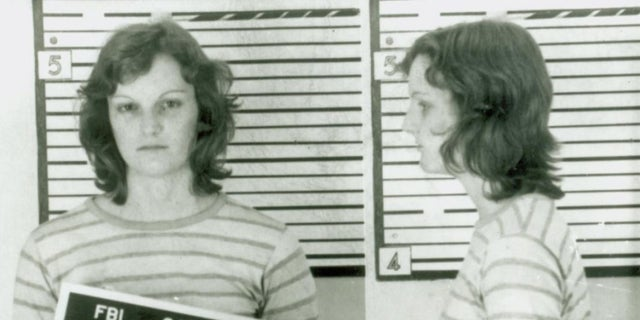 A mugshot of Patty Hearst after her arrest.