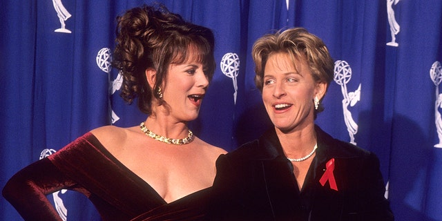 Comedienne Ellen DeGeneres and actress Patricia Richardson hosted the 46th Annual Primetime Emmy Awards on Sept.11, 1994 at the Pasadena Civic Auditorium in Pasadena, California.