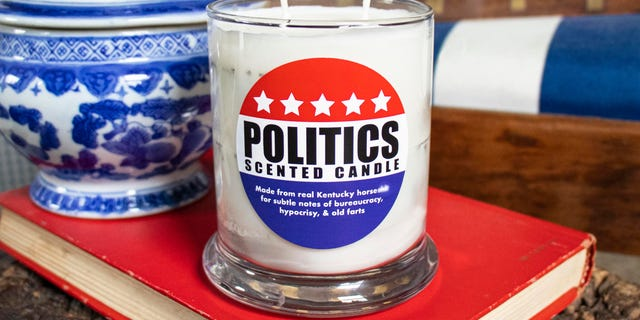 Westlake Legal Group Politics-Scented-Candle-3 Company releases 'Politics Scented Candle' made from genuine horse poop: 'Subtle notes of bureaucracy' fox-news/lifestyle fox-news/house-and-home fox news fnc/lifestyle fnc article Alexandra Deabler 1435c318-a7f0-51da-9a6c-bacec66276fd