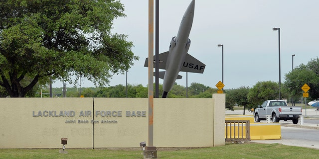 The Annex Gate is seen at Lackland Air Force Base in San Antonio, Texas.