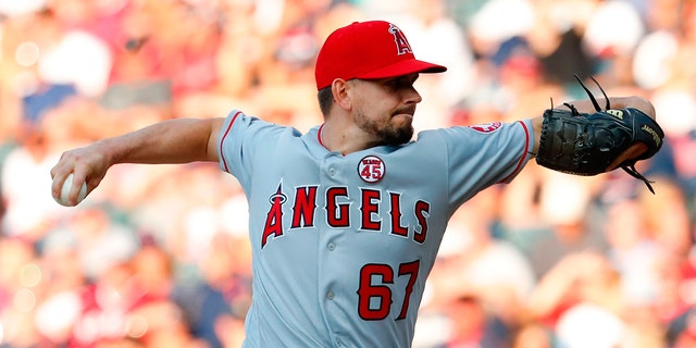 Taylor Cole pitched for the Angels last season. (Rick Osentoski-USA TODAY Sports)