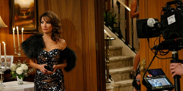 Susan Lucci filming the final episode of 'All My Children' in 2011.