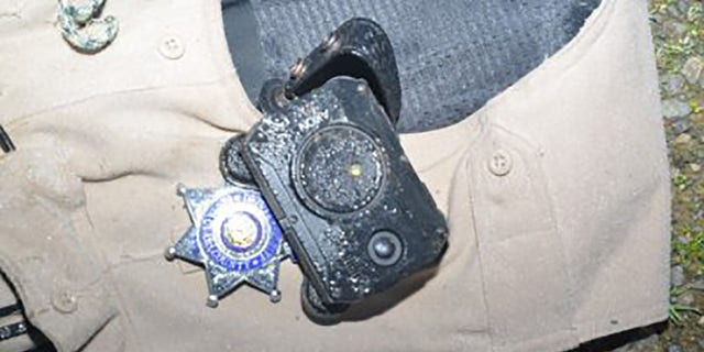 A body camera worn by Gill was partially to thank for protecting him from a bullet that struck him in the chest, officials said.