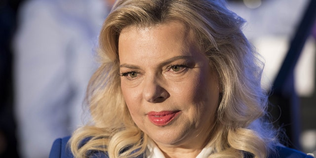 Sara Netanyahu, the wife of Israeli Prime Minister, attends a ceremony marking the 50th anniversary of the 1967 Israeli-Arab War, in the Old City of Jerusalem on May 21, 2017. / AFP PHOTO / EPA POOL / ABIR SULTAN (Photo credit should read ABIR SULTAN/AFP via Getty Images)