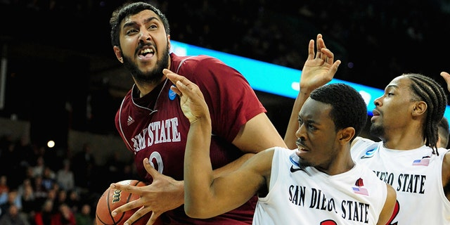 Sim Bhullar was named tournament MVP. (Photo by Steve Dykes/Getty Images)