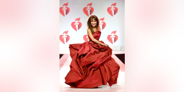 Susan Lucci walks the runway for The American Heart Association's Go Red For Women Red Dress Collection 2019 Presented By Macy's at Hammerstein Ballroom on February 7, 2019, in New York City.