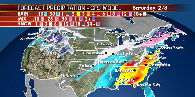 A storm this week will bring snow to the interior parts of the Northeast.