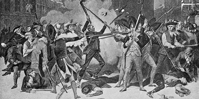 Image from 1896 showing the Boston Massacre in 1770 which was part of the American Revolutionary War. (iStock)
