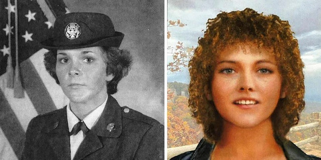 This undated military photo and artist rendering by the DNA Doe Project provided by the Oklahoma County, Okla., Sheriff's Office shows Tamara Lee Tigard. (Oklahoma County Sheriff's Office via AP)