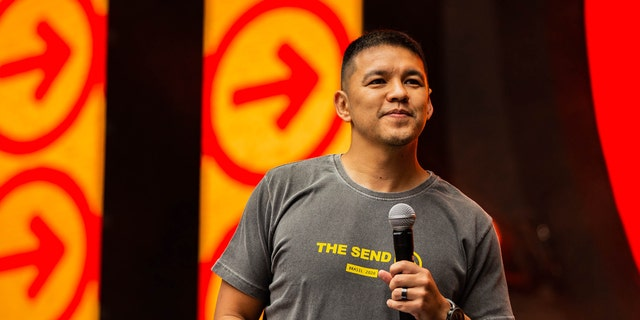 Teo Hayashi, a co-organizer of The Send Brazil, spoke at the big event Saturday, Feb. 8, 2020. Hayashi is the founder of the Dunamis Movement and the pastor of Zion Church in Sao Paulo.