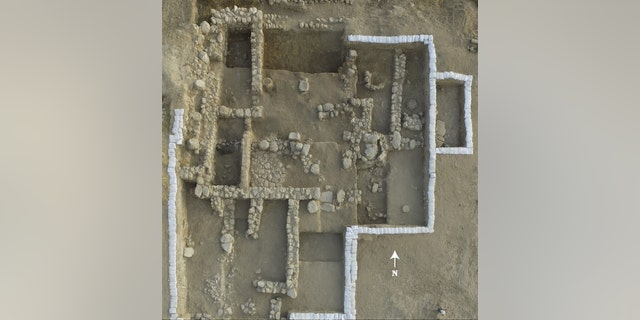 Aerial view of the ancient Canaanite temple.