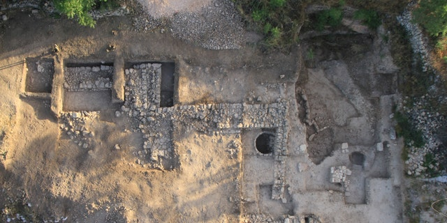 An aerial view of the Tel Moza site.