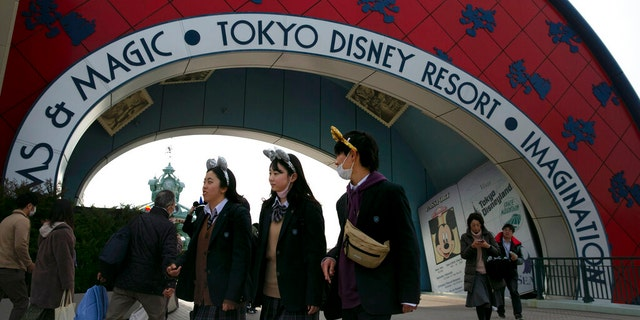 The amusement park will be closed from Feb. 29 until March 15 in an effort to prevent the spread of COVID-19. (AP Photo/Jae C. Hong)