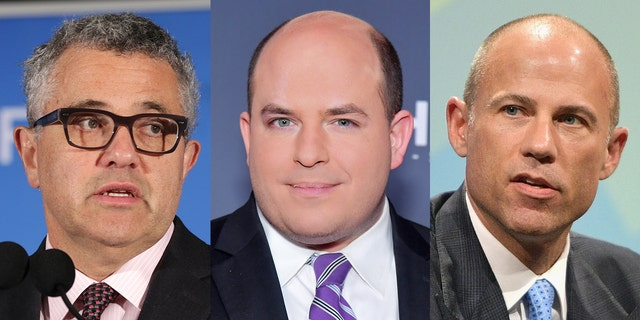 CNN pundits Jeffrey Toobin and Brian Stelter discussed their role in turning Michael Avenatti into a household name.