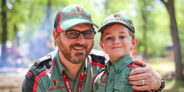 A father and his son participate in Trail Life USA, a faith-based alternative to the Boy Scouts of America.