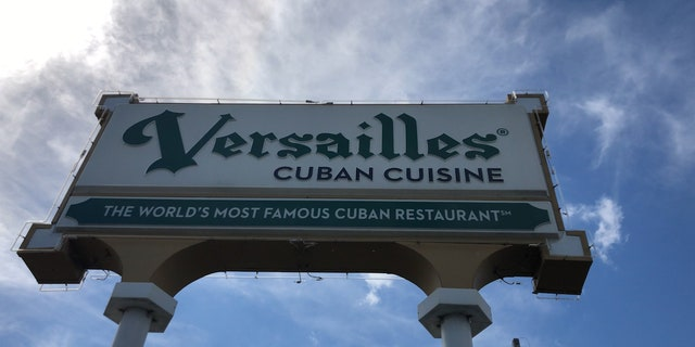While Cuban restaurant Versailles is famous for it's strong cuban coffee and delicacies, what they are really as is a backdrop for political events and discussion amongst the community.
