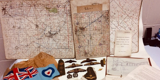 The collection of World War I artifacts belonged to Lt. Stuart Leslie, a pilot in the Royal Flying Corps, which became the RAF. (Credit: Hansons Auctioneers)