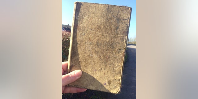 The battered diary was kept by British soldier Arthur Edward Diggens. (Hansons)