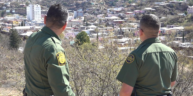 Border Patrol agent Alan Regalado looks out across the U.S. Mexico border (Stephanie Bennett/Fox News).