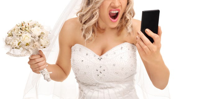 A bride-to-be is attempting to force a stranger to give up their email address after sending out her wedding invitations with the stranger's email address listed on it.