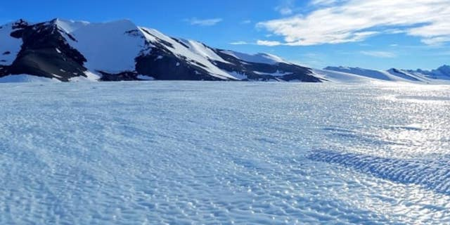 Pictured above, a blue ice area in Antarctica.