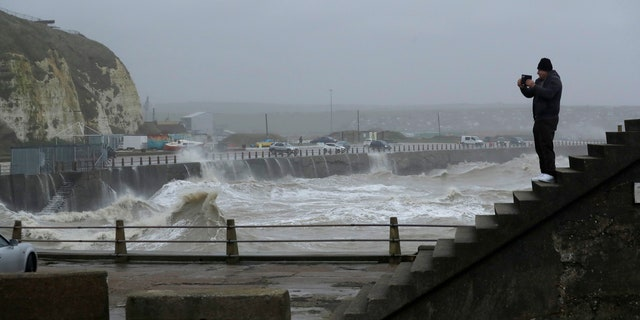 Trains, flights and ferries have been cancelled and weather warnings issued across the United Kingdom and in northern Europe as the storm with winds expected to reach hurricane levels batters the region.