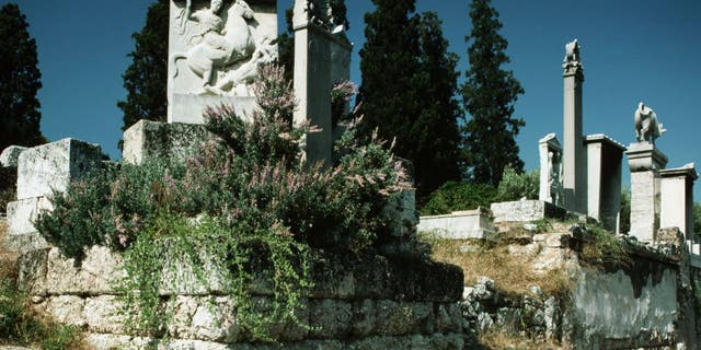 Thirty curse tablets have been found in an ancient well in the Athenian cemetery Kerameikos (seen here).
