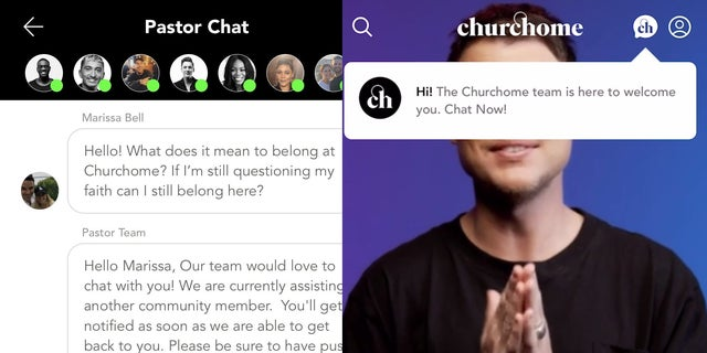"Churchome Global added a ""Pastor Chat"" feature as a way for anyone to talk with a trained pastor."