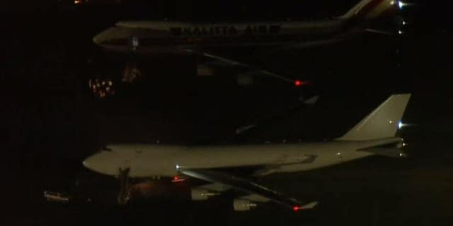 The planes landed early Wednesday morning in California.