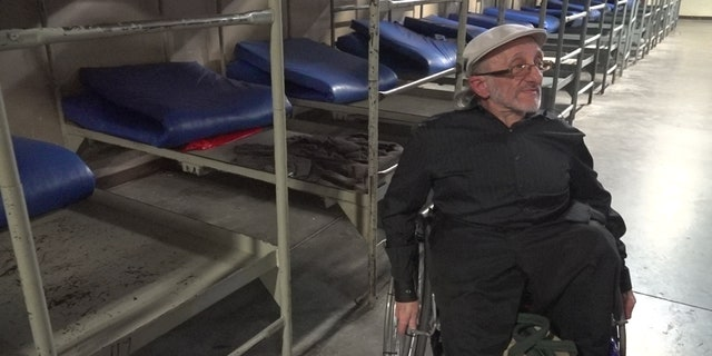 Homeless senior David Kizziar is staying for the first time at Central Arizona Shelter Services, the states largest emergency shelter. (Stephanie Bennett / Fox News)