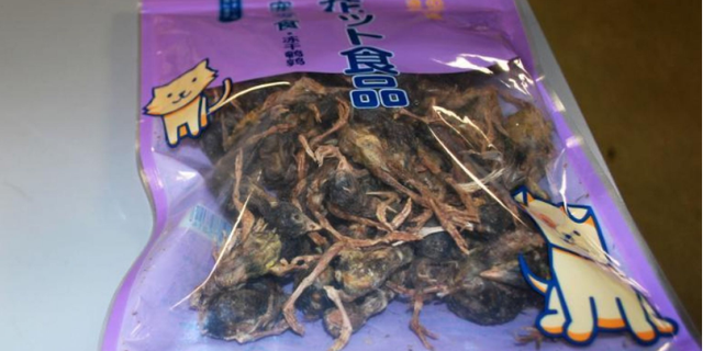 Agriculture specialists with the U.S. Customs and Border Protection (CBP) seized a package of dead birds from the luggage of a passenger traveling from China.