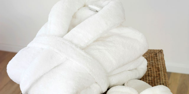 """Take your """"staycation"""" to the next level with an oversized spa bathrobe."""