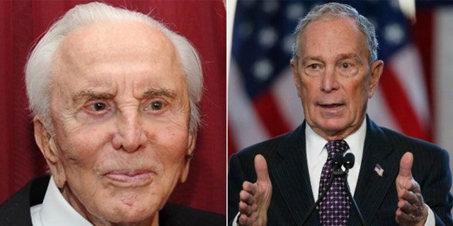 Kirk Douglas voiced support for Mike Bloomberg before he passed away on Wednesday at age 103.