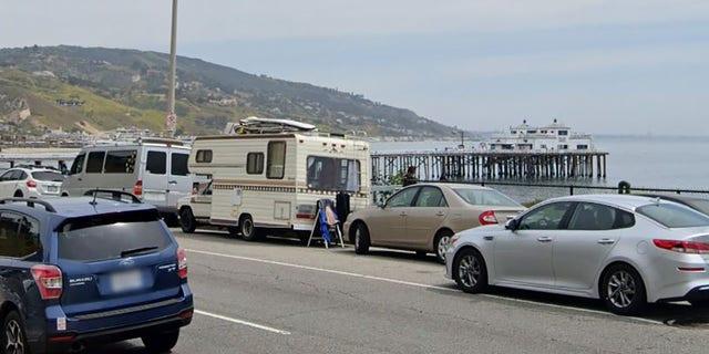 Pacific Coast Highway near Malibu Pier.