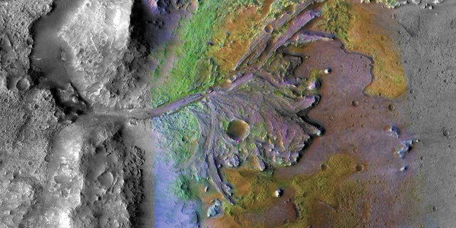 Jezero Crater, landing site for the upcoming Mars 2020 rover mission. (NASA/JPL/JHUAPL/MSSS/Brown University)