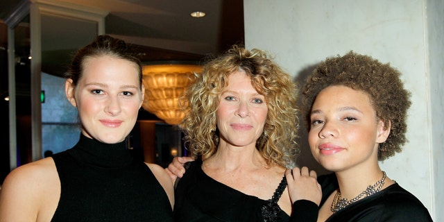 Actress Kate Capshaw (center), and daughters Mikaela George Spielberg (right) and Destry Allyn Spielberg (left) attend EIF Women's Cancer Research Fund's 16th Annual 'An Unforgettable Evening' presented by Saks Fifth Avenue at the Beverly Wilshire Four Seasons Hotel.