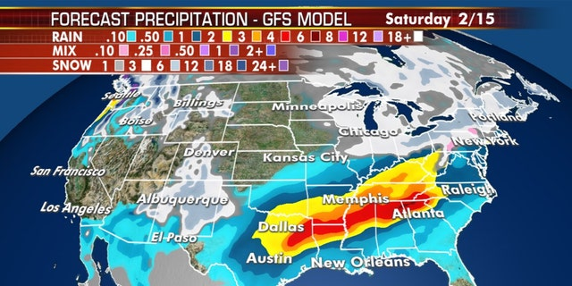Heavy precipitation across the South is expected to lead to flooding later this week.