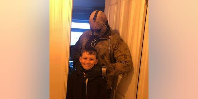 Carter's one birthday wish was to meetthe legendary villain and serial slasher Jason Voorhees.