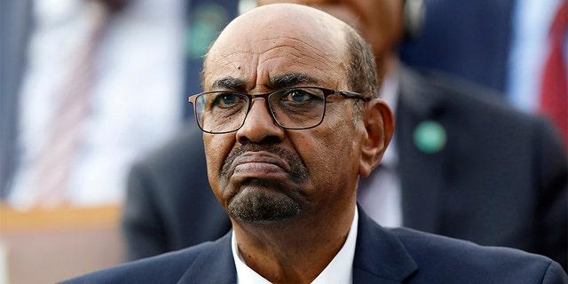Former Sudan President Omar al-Bashir attends a ceremony for Turkey's President Recep Tayyip Erdogan, at the Presidential Palace in Ankara, Turkey, in 2018.