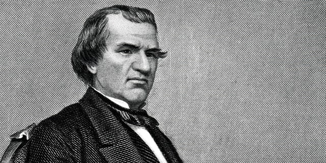 Engraving From 1881 Featuring The American President, Andrew Johnson. Johnson Lived From 1808 Until 1875.