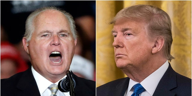 Trump tweets encouragement to Rush Limbaugh as he fights advanced lung cancer