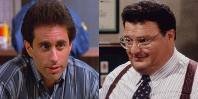 Jerry Seinfeld and his nemesis, Newman (Wayne Knight).
