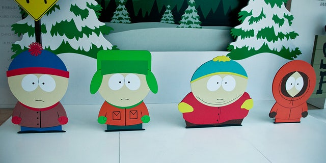 Stan Marsh, Kyle Broflovski, Eric Cartman and Kenny McCormick attend The Paley Center for Media presents special retrospective event honoring 20 seasons of 'South Park' at The Paley Center for Media on Sept. 1, 2016 in Beverly Hills, California.